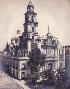 El templo de Santo Domingo, retratado por Guillermo Kahlo alrededor de 1909