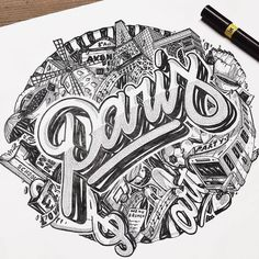 Awesome type and illustration by @nairone | #typegang - typegang.com | typegang.com #typegang #typography