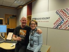 Pauline Rowson and Julian Clegg with Art Marvik crime novel Silent Running BBC Radio Solent March 15
