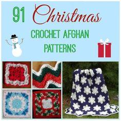 91 Christmas Crochet Afghan Patterns - Free Crochet Patterns - (allfreecrochetafghanpatterns)