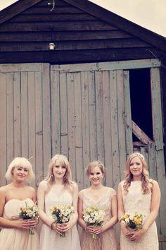 cute mismatched bridesmaids