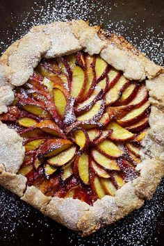 Easy Peach Tart - the best and easiest tart ever, loaded with peaches. The pie crust is flaky, buttery and delicious. This recipe is so easy and fail-proof for novice baker | rasamalaysia.com