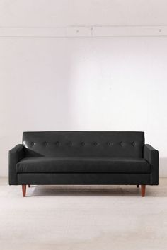 Sydney Recycled Leather Sofa | Urban Outfitters Faux Leather Sofa, Recycled Leather, Velvet Sofa, Mid Century Design, Pillow Set, Custom Furniture, Seat Cushions, Living Spaces, Recycling