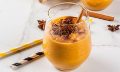 Pumpkin is a wonderful source of vitamin A and beta-carotene, making it a tasty and healthy addition to your diet. Thanksgiving Recipes, Fall Recipes, Vegan Recipes, Pumpkin Spice Syrup, Pumpkin Puree, Shake Recipes, Smoothie Recipes, Smoothies, Pumpkin Pie Smoothie