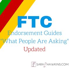 """For the first time since the FTC Disclosure Endorsement Guides updated the FAQs known as """"What People Are Asking"""". Branding Strategies, S Mo, My Passion, Social Media Marketing, Insight, Blogging, Universe, Key, Tips"""