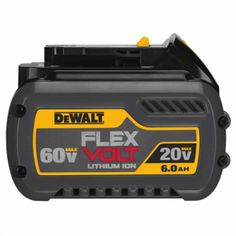 The revolutionary new DeWalt FlexVolt battery has the ability to switch between 20V and 60V by recognizing the tool it is connected to!