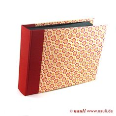 Photo Album red orange stamp flowers