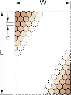 determining size of quilt and number of hexagons needed