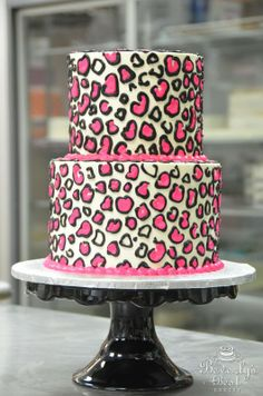 Pink Leopard Print Cake by Beverly's Bakery