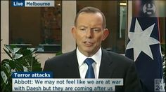 Isis coming for us, says Tony Abbott after attacks – video | Australia news | The Guardian