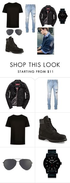 """""""Jake Argent Outfit #1"""" by emerald12345 on Polyvore featuring Superdry, Balmain, Timberland, Nixon, men's fashion and menswear"""