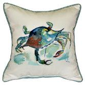 Found it at Wayfair - Coastal Crab Indoor/Outdoor Throw Pillow