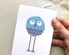 Delightful little birds designed to make you von TheKautziShop Little Birds, Little Things, Bird Design, Postcards, Coasters, Make It Yourself, Vintage, How To Make, Craft Gifts