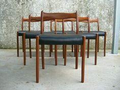 """!! """"Fler 64"""" Chairs, """"Jon Jansen Table"""", retro !!"""