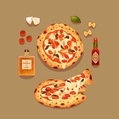 Pizza ~ hamsin illustration
