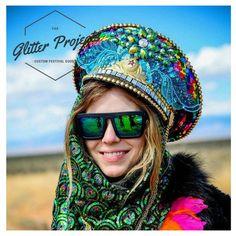 Captain Hat I Band Hat I Custom Burning Man Hats I Rhinestones I Gems I Sequins I Jewels I Custom Rave Wear I Rave Wear I Burner Girl I Black Rock City I Playa Wear I Burning Man Costumes