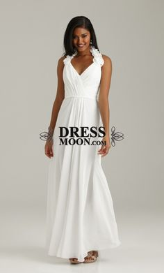 I like this - A line V Neck Ruched Chiffon Dresses. Do you think I should buy it?