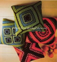 Vintage Crochet Pattern, Granny Square Chic Goodness