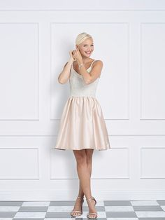 Jane Summers Sydney sequin pale blush pink after party dress and reception dress