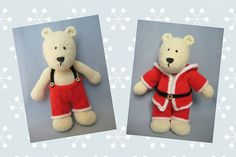 Polar Bear toy knitting pattern by Amanda Berry