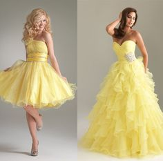 d3ed7dc953e Yellow Elegant Dancing Gown