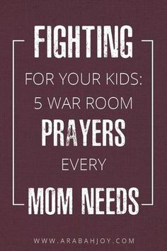 So you know that praying for your kids is one of the best things you can do as a parent. Here are five of my favorite verses to pray for my children. These are perfect for your war room! #prayers