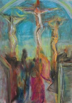 crucifixion Illustrations, Illustration Art, Social Media Art, Art Therapy Projects, Cross Art, Jesus Art, Biblical Art, Jesus Pictures, Painting & Drawing