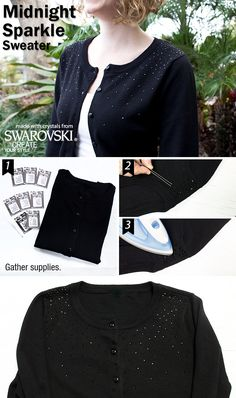 Adding some sparkle to your favorite sweater is so simple with this project by Swarovski Create Your Style!