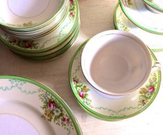 Beautiful vintage china pattern, Formal Garden by Grace China - Southern Vintage Table
