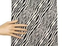 Black and Light Beige Graphic Zebra Design Stretch Brocade