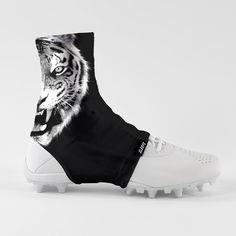 b96cf0dd4c1 Black Tiger Spats   Cleat Covers