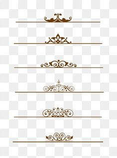 European Border Pattern Dividing Line Can Be Commercial Elements PNG and Vector Background Templates, Background Patterns, Corona Vector, Photography Business Card, Wedding Invitation Background, Vector Border, Design Digital, Wedding Album Design, Simple Borders