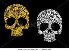 floral skulls - Google Search