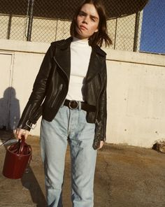Rework your wardrobe with our latest arrival leathers, including the signature Balfern Biker, worn by double3xposure