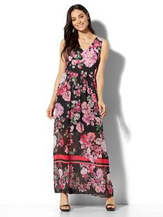 Shop Floral & Stripe Maxi Dress. Find your perfect size online at the best price at New York & Company.