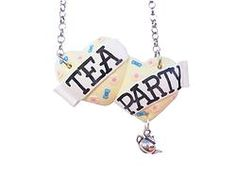 Tea Party large double heart necklace