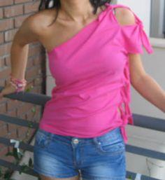 diy no sew t-shirt #DIYTShirts4Summer #PintasticTshirtUpcycles