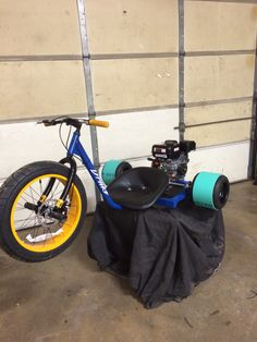 Drift trike built by my son and I. Love it turned out great!