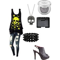 """abbey dawn & skulls"" by jessica-t82 on Polyvore"