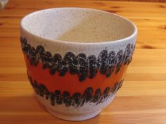 Vintage West German Planter with Fat Lava from Bay Keramik by DeeGeeRetro on Etsy
