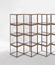 The 45° Tavolino units from Israeli-born designer Ron Gilad's Grado collection for Molteni & C.