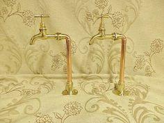 Kitchen Basin Sink, Sink Taps, Kitchen Taps, Faucet, Copper Bathroom, Bathroom Taps, Copper Kitchen, Bathroom Ideas, Copper Taps