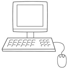 this computer coloring page features a picture of a computer to color for the day of school the coloring page is printable and can be used in the classroom - Computer Coloring Pages Printable