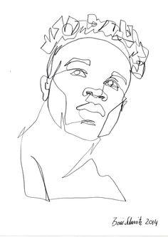 Gaze 456 continuous line drawing by boris schmitz for Art of minimal boris
