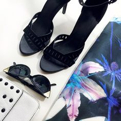 """Joie Suede Cutout Heels Size 40 black suede open toe heels with cutout details and an ankle strap. 3.75"""" heels. Brand new in box. 02161602 Joie Shoes Heels"""