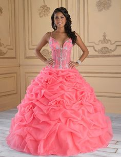 quinceanera | Quinceanera Dresses and Gowns for 2010 Salmon and Silver Quinceanera ...