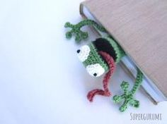 Frog Bookmark Crochet Pattern
