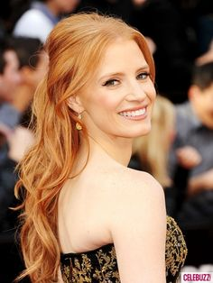 Loved Jessica Chastain's hair at the Oscars