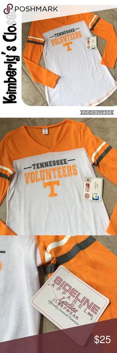 "🛍TENNESSEE VOLUNTEERS Sleep Shirt🛍 TENNESSEE VOLUNTEERS women's sleep shirt. 30"" long from top to bottom down the back.  60% cotton, 40% polyester - super soft and comfortable material.  Brand new with tags. Sideline Apparel Intimates & Sleepwear"