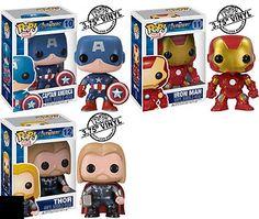 AVENGERS Pop Vinyl figures Captain America Thor Iron Man Marvel comics  http://r.ebay.com/kVd8SV